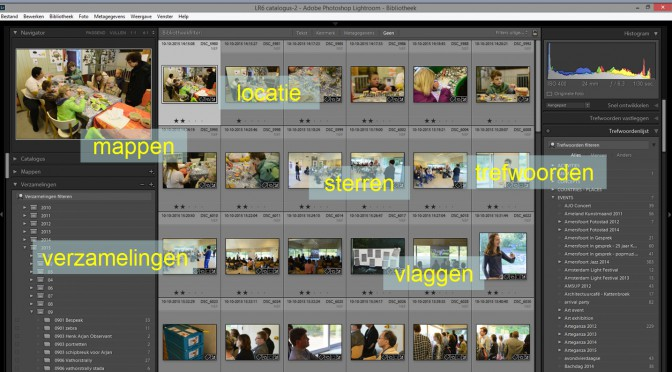 organiseren in Lightroom