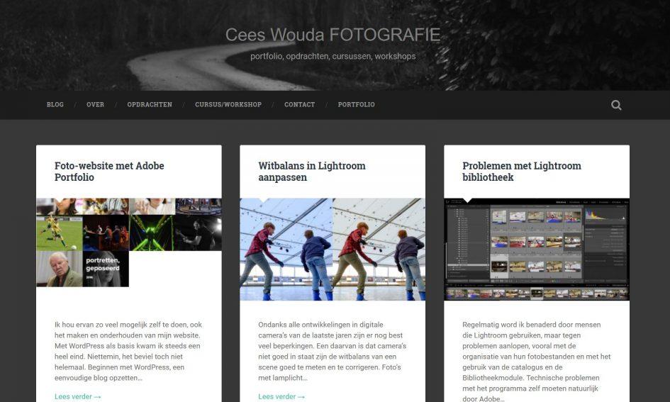 website aangepast het is nu een blog cees wouda fotografiemijn portfolio is nu helemaal over naar een site gebaseerd op adobe portfolio, die is nu gemakkelijk te onderhouden met behulp van lightroom